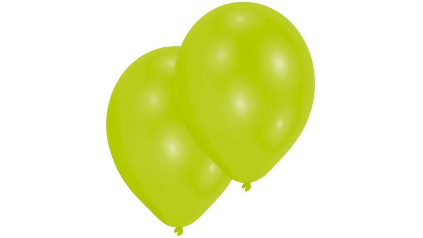 Amscan - 10 Latex Ballons limonengrün 27,5cm
