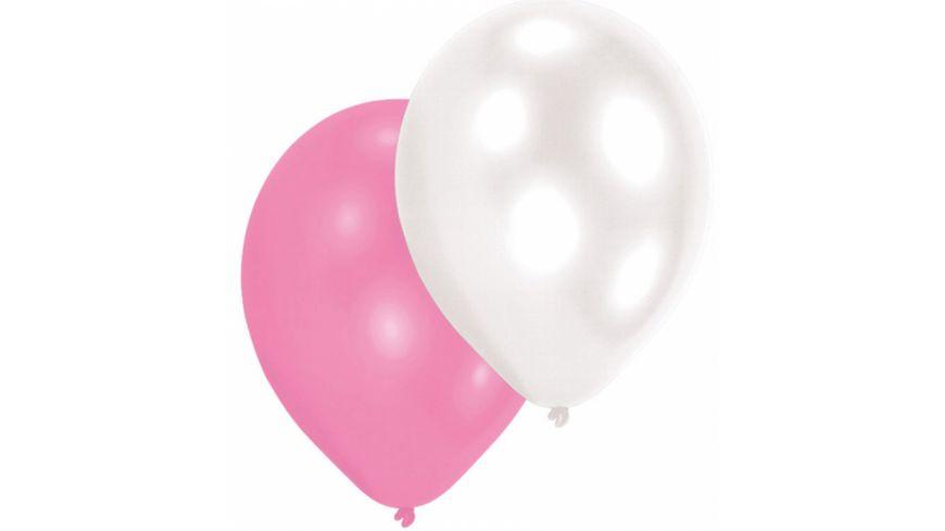 Amscan 10 Latex Ballons Girls perlmutt