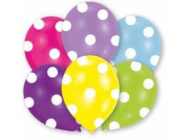 Amscan 6 Latex Ballons Polka 27 5cm