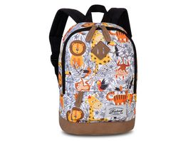 fabrizio Kinderrucksack Safari weiss orange 40216 2014
