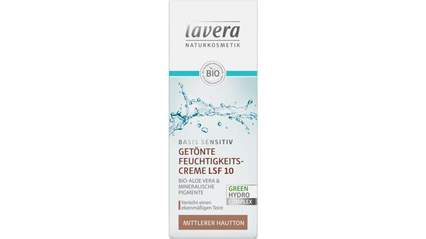 lavera basis sensitiv Getönte Tagescreme LSF 10 mittlerer Hauttyp