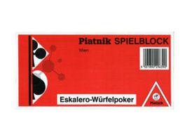Piatnik 296590 Eskalero Yatzee Spielblock