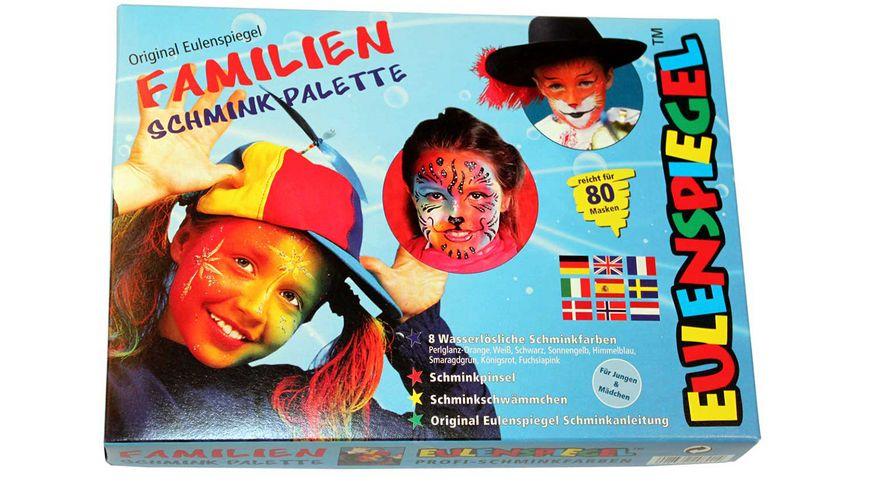Eulenspiegel 208014 - Familien Schmink-Palette