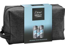 Dove Men Care 3er Geschenkpack mit Pflegedusche Deodorant und Kulturtasche