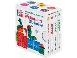 Die kleine Raupe Nimmersatt Meine Weihnachtsbibliothek Farben Formen Woerter Zahlen