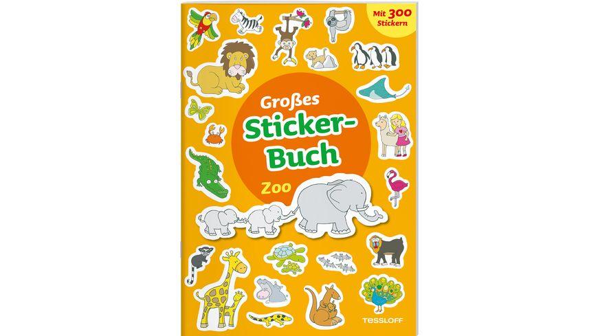 Grosses Sticker Buch Zoo Mit kleiner Geschichte und 300 Aufklebern