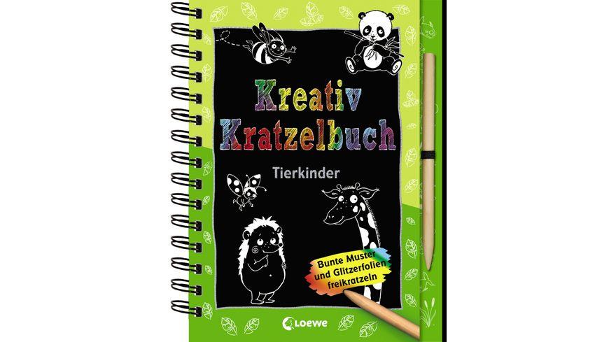 Kreativ Kratzelbuch Tierkinder ab 5 Jahre