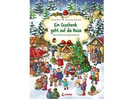 Ein Geschenk geht auf die Reise Mein Weihnachtswimmelbuch