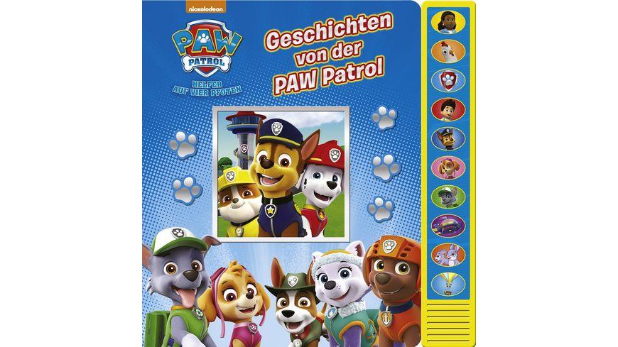 Geschichten von der PAW Patrol Vorlese Pappbilderbuch mit 10 lustigen Geraeuschen fuer Kinder ab 3 Jahren
