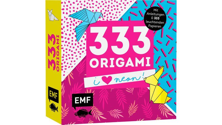 333 Origami I love Neon Mit Anleitungen und 333 leuchtenden Papieren