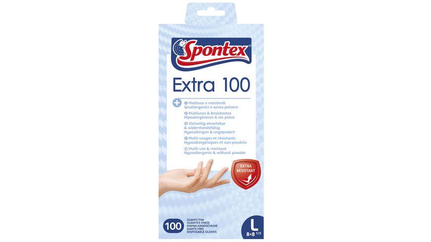 Spontex Extra 100 Einmalhandschuhe Gr 8 8 5