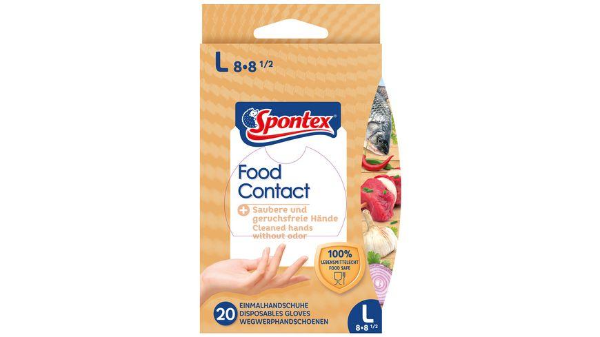 Spontex Food Contact Einmalhandschuhe Gr. 8-8,5