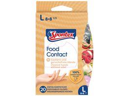 Spontex Food Contact Einmalhandschuhe Gr 8 8 5