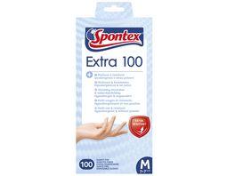 Spontex Extra 100 Einmalhandschuhe Gr 7 7 5