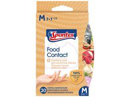 Spontex Food Contact Einmalhandschuhe Gr 7 7 5
