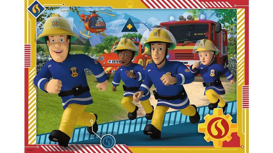Ravensburger Puzzle Feuerwehrmann Sam Sam und sein Team 2x12 Teile