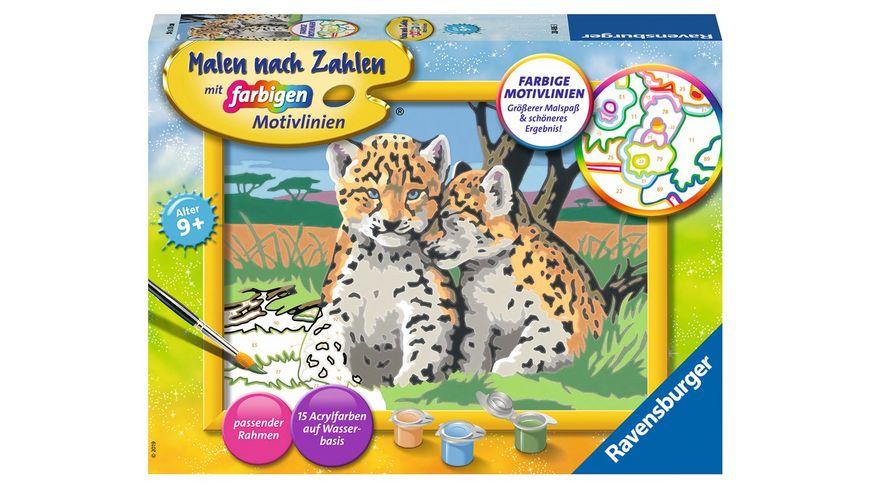 Ravensburger Beschaeftigung Malen nach Zahlen Kleine Leoparden