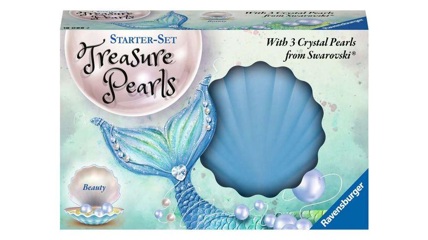 Ravensburger Beschaeftigung Starter Set Treasure Pearls Schoenheit Schmuck zum Selbstgestalten mit Perlen von Swarovski sortiert