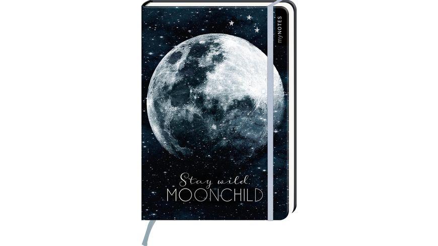myNOTES Notizbuch punktkariert Stay wild moonchild