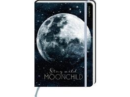 myNOTES Notizbuch punktkariert Stay wild moonchild