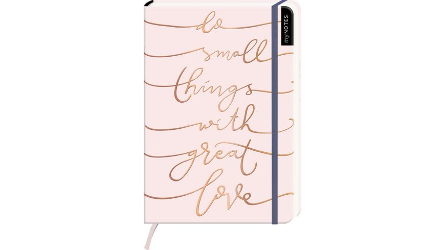 myNOTES Notizbuch punktkariert Do small things with great love