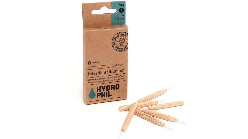 HYDROPHIL Interdentalbuersten aus Bambus Size 3 0 60 mm