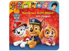 PAW Patrol Verrueckte Such Bilder mit Klappen Pappbilderbuch mit 20 Klappen und Register Wimmelbuch fuer Kinder ab 18 Monaten