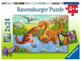 Ravensburger Puzzle Spielende Dinos 2x24 Teile