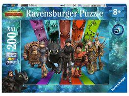 Ravensburger Puzzle Dragons Die Drachenreiter von Berk 200 XXL Teile