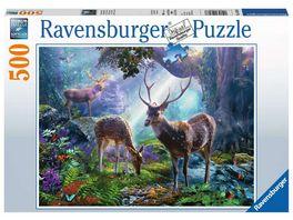 Ravensburger Puzzle Hirsche im Wald 500 Teile