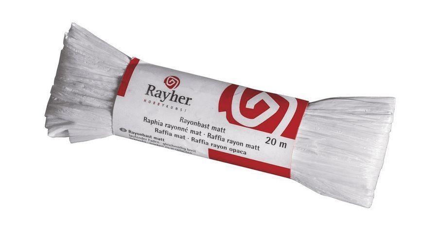 Rayher RAYONBAST MATT 20 M WEISS 5214902