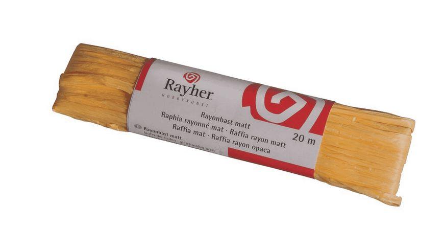 Rayher RAYONBAST MATT 20 M GELB 5214920