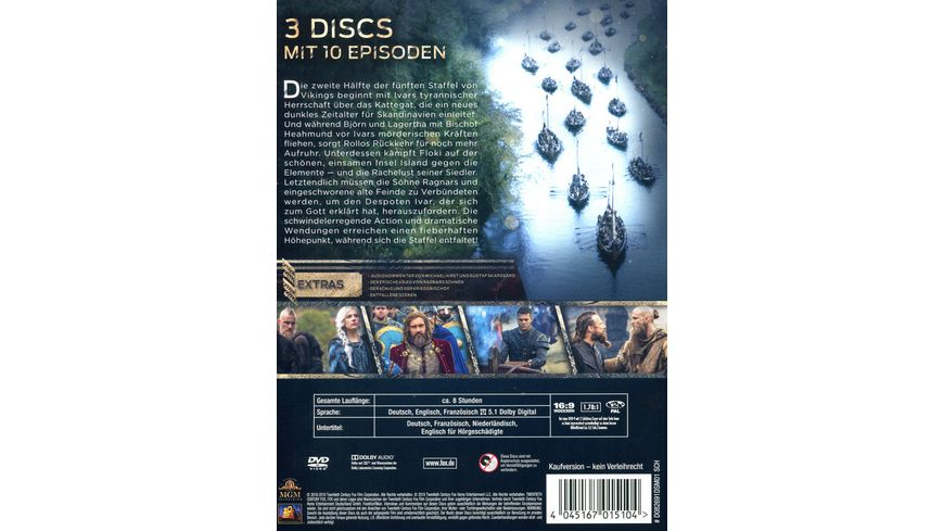 Vikings Season 5 2 3 DVDs