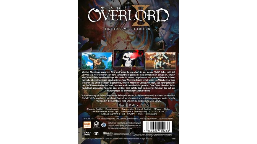 Overlord II Limited Complete Edition Staffel 2 Episode 01 13 3 DVDs