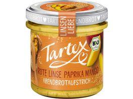 Tartex Linsen Liebe Rote Linse Paprika Mango Brotaufstrich