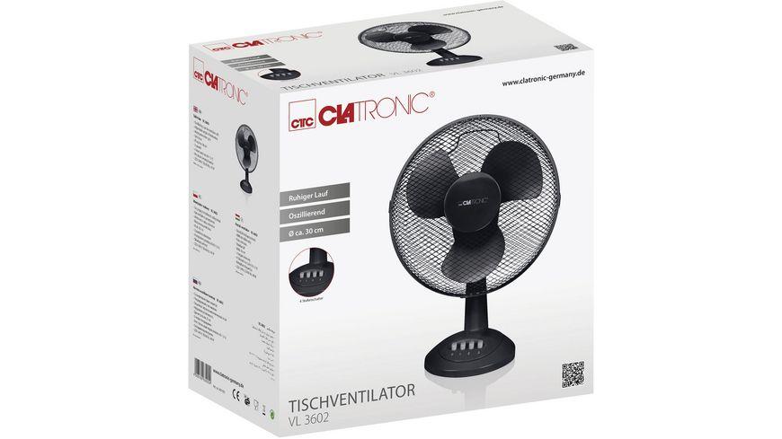 CLATRONIC Tisch Ventilator VL3602 schwarz