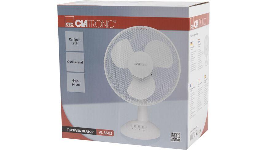 CLATRONIC Tisch Ventilator VL 3603 weiss