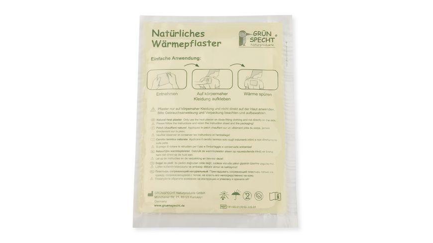 Gruenspecht natuerliches Waermepflaster