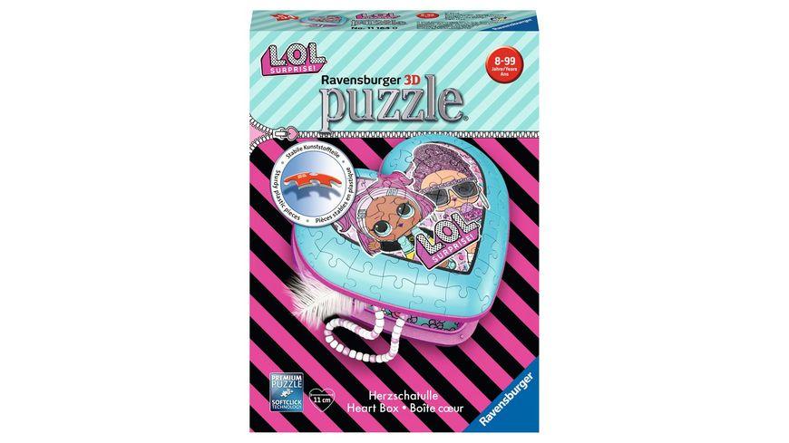 Ravensburger Puzzle 3D Puzzle Organizer Herzschatulle LOL