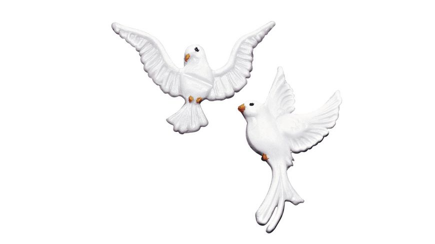 Wachsmotiv Tauben 2 Paar 40mm