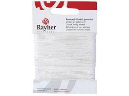 Rayher BAUMWOLLKORDEL GEWACHST WEISS 1MMX20M 5169102