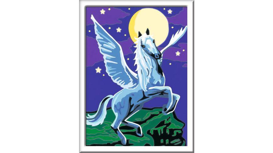 Ravensburger Beschaeftigung Malen nach Zahlen Pegasus im Mondschein