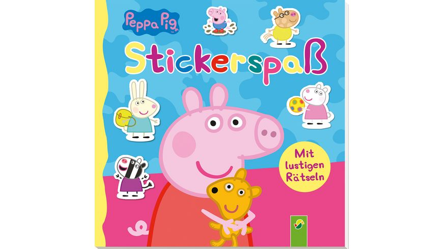 Peppa Pig Stickerspaß - Mit lustigen Rätseln