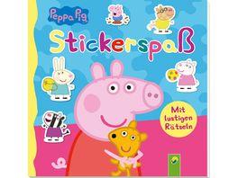 Peppa Pig Stickerspass Mit lustigen Raetseln