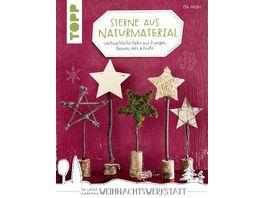 Sterne aus Naturmaterial kreativ kompakt Weihnachtliche Deko aus Zweigen Beeren Holz Draht