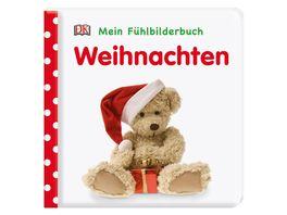 Mein Fuehlbilderbuch Weihnachten Wattiertes Pappbilderbuch ab 6 Monaten Mit Reimen und Fuehl und Glitzerelementen