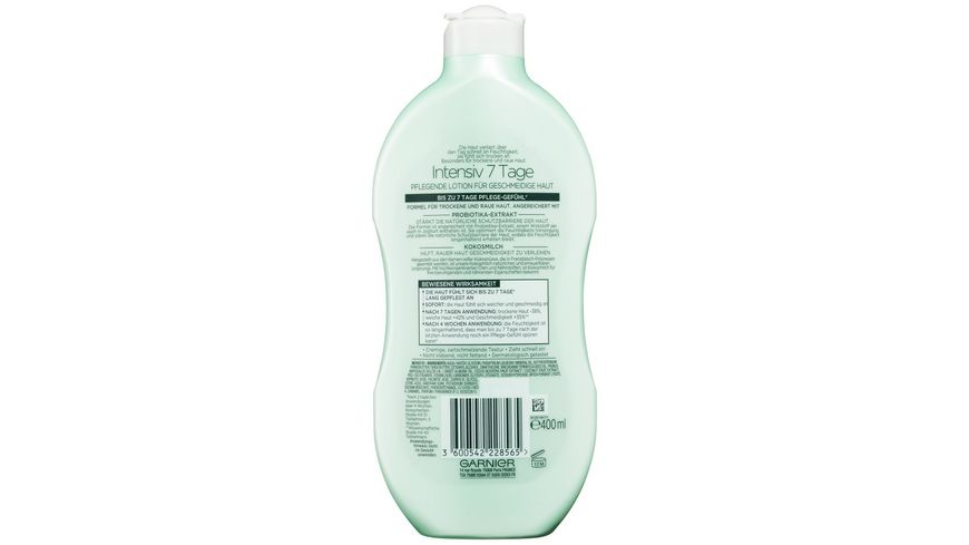 GARNIER Body Intensiv 7 Tage Pflegende Lotion Kokosmilch