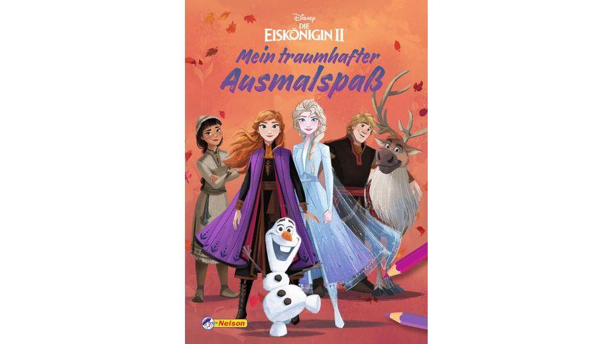 Disney Die Eiskoenigin 2 Mein traumhafter Ausmalspass Malblock mit 128 Seiten