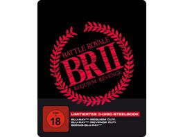 Battle Royale 2 3 Disc SteelBook inkl Requiem Cut Revenge Cut und Bonus BD Blu Ray