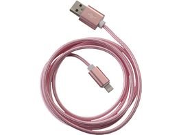 PETER JAeCKEL FASHION 1 5m USB Data Cable Rose fuer Apple Lightning mit Sync und Ladefunktion